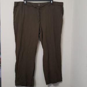 Talbots linen pants 22W